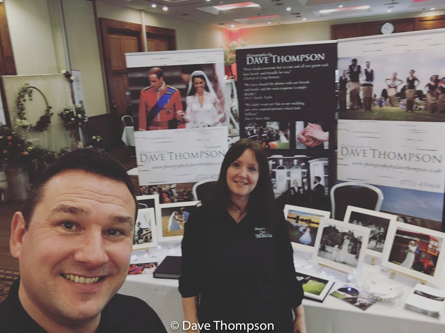 My wife and I at out first ever Fayre at Crewe Hall Wedding Fayre