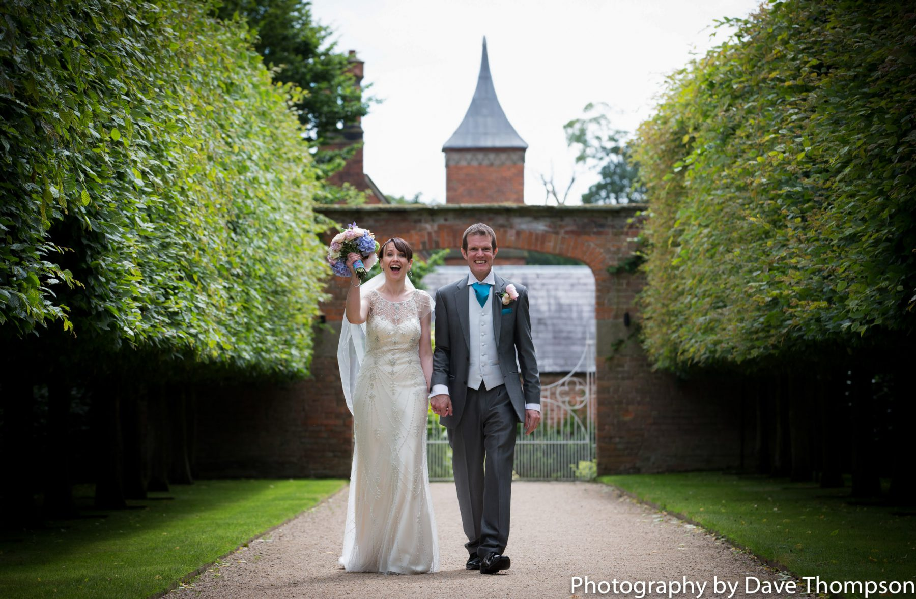 Bride and Groom at Combermere