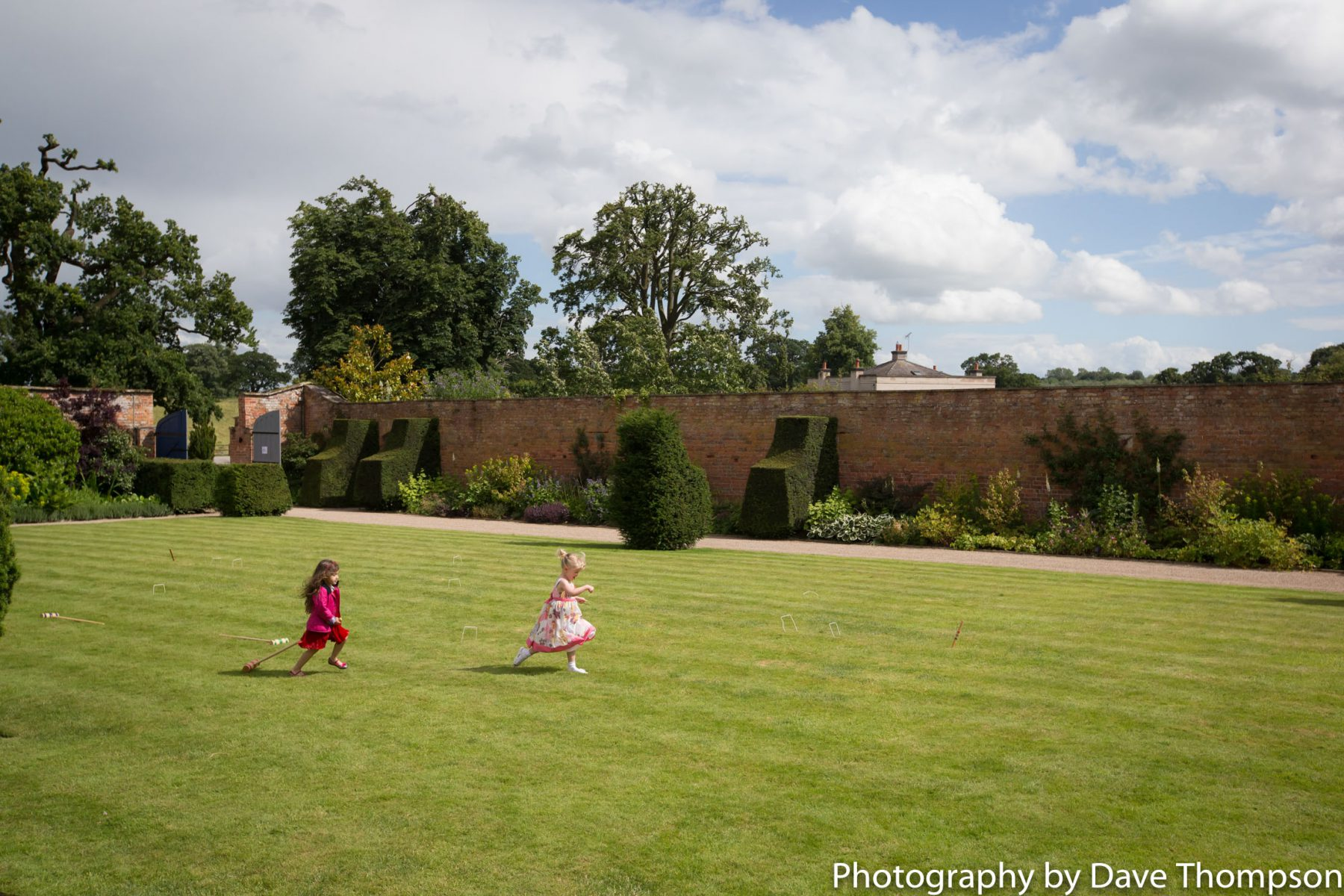 Children play in the grounds