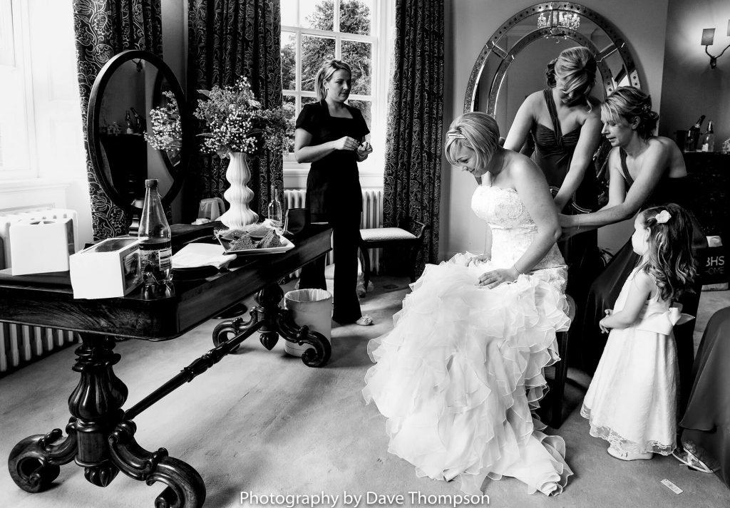 Bridal prep at Iscoyd Park Country House