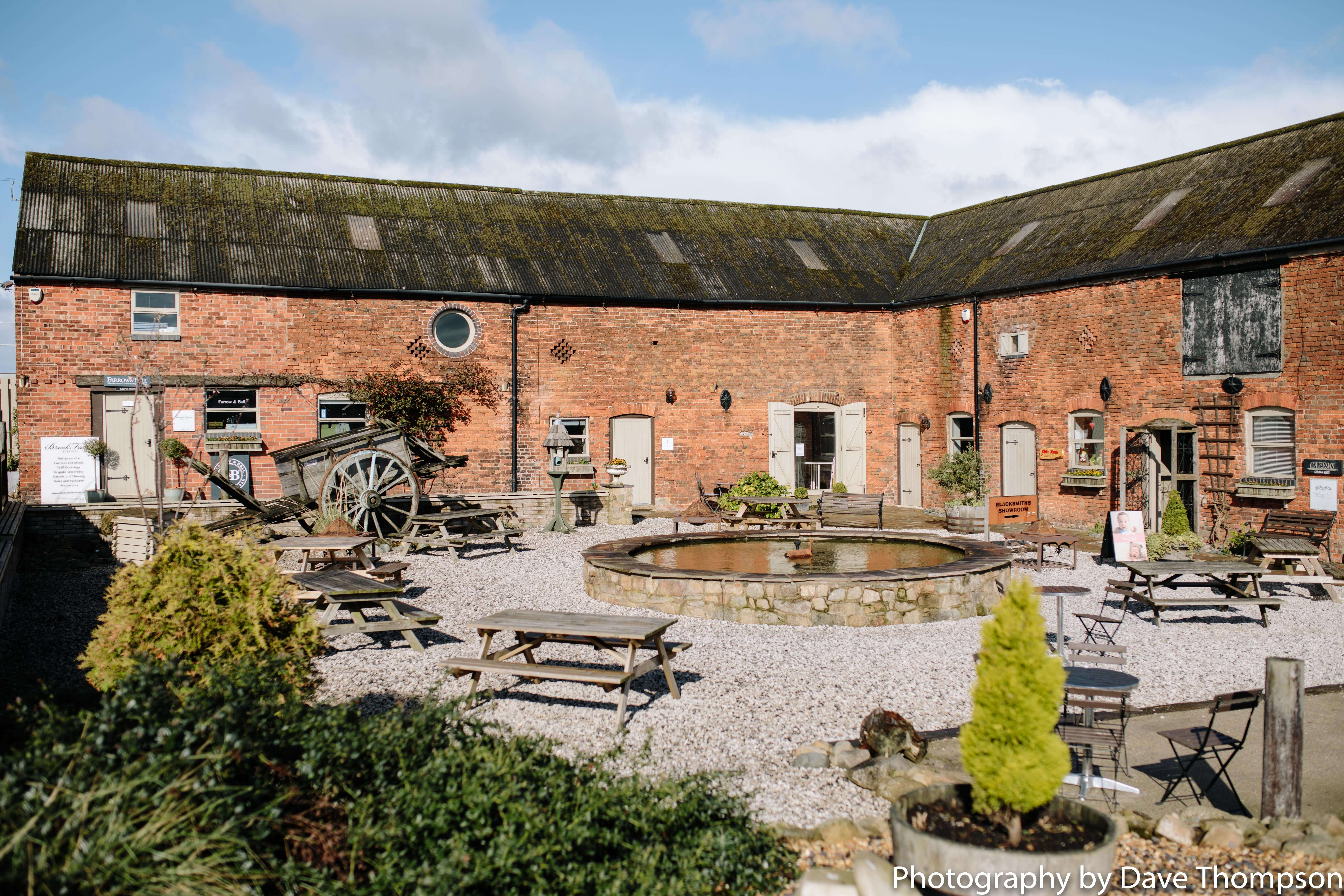 The courtyard at Alcumlow Wedding barn