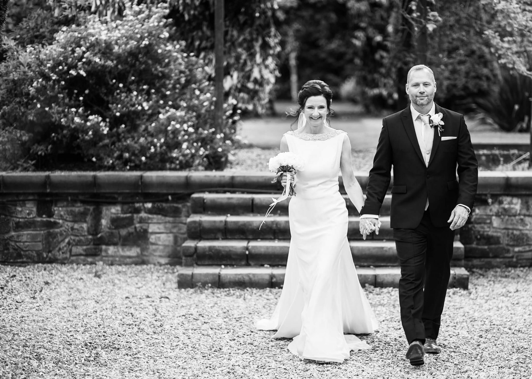 The bride and groom after their wedding ceremony