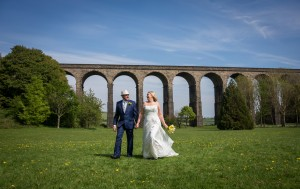 Karen and Ian at Penistone Viaduct, near Sheffield.