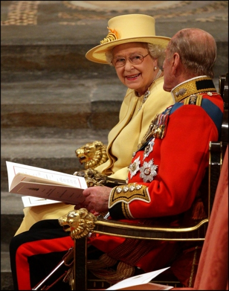 The Queen sat next to the Duke of Westminster at the Royal Wedding