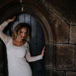 A bride in a doorway