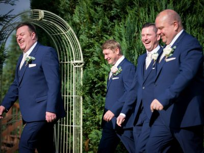 The Groom, his best man and the ushers