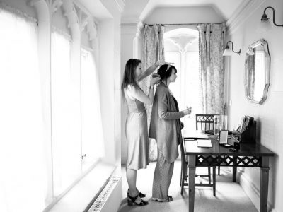 Hairdresser and the bride