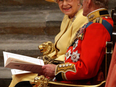 Queen Elizabeth II during the Royal Wedding of William and Kate at Westminster Abbey