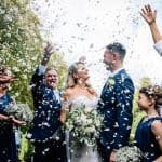 Confetti for the bride and groom