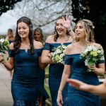 Bridesmaides arrive