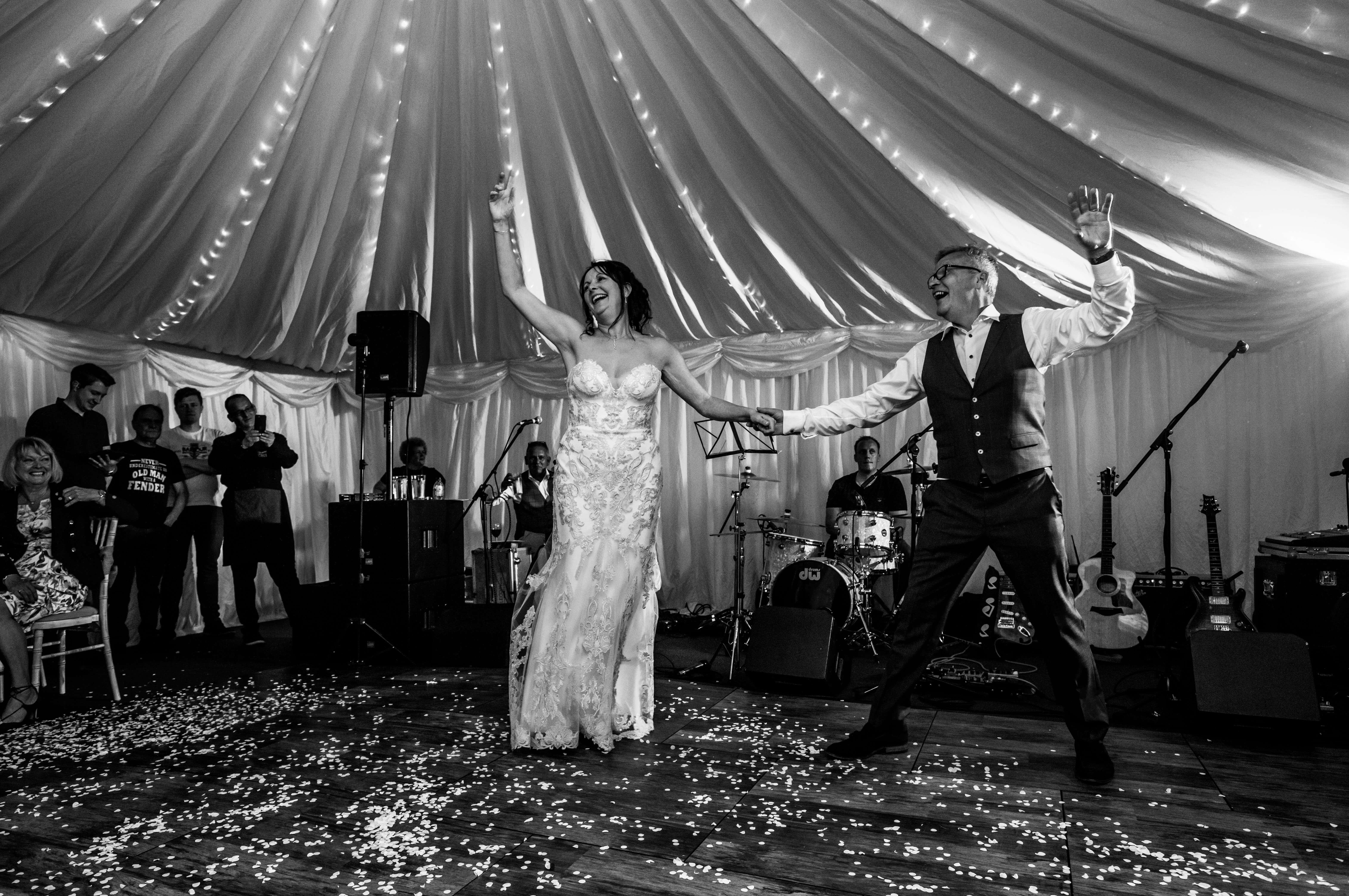Natural wedding photographer capturing first dance