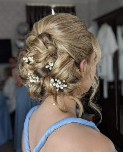 Bridal hair created by Dirty Blondes Hair Design a Stockport based Bridal hairdresser