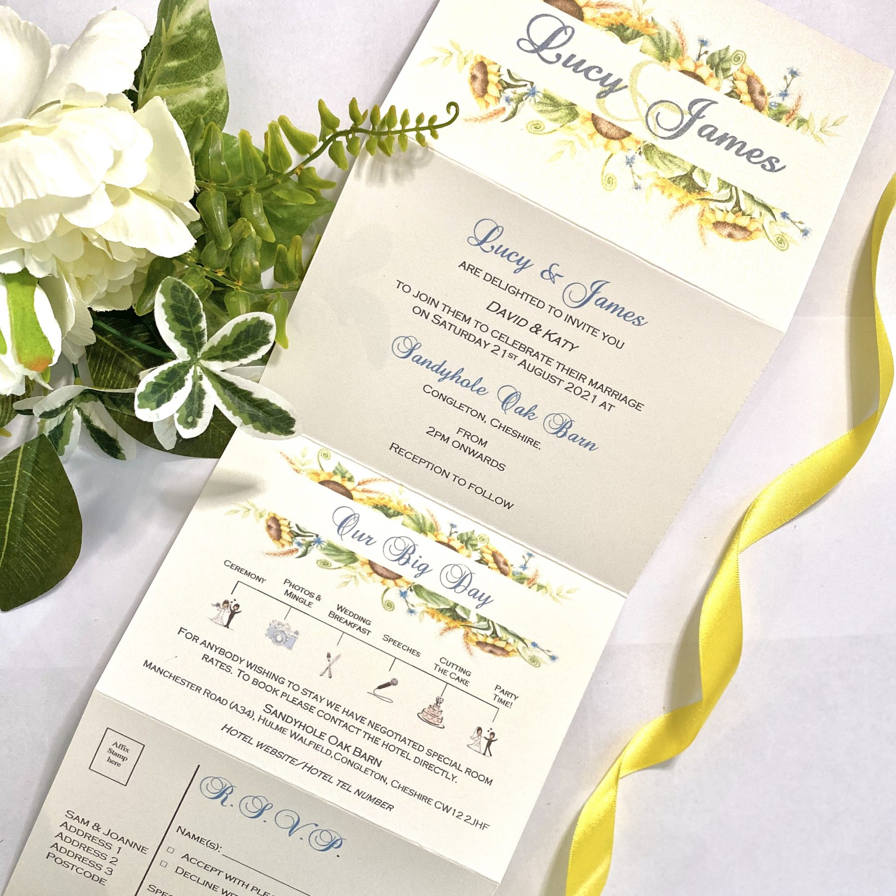 Wedding stationary packages designed by I Do Designs in Stockport