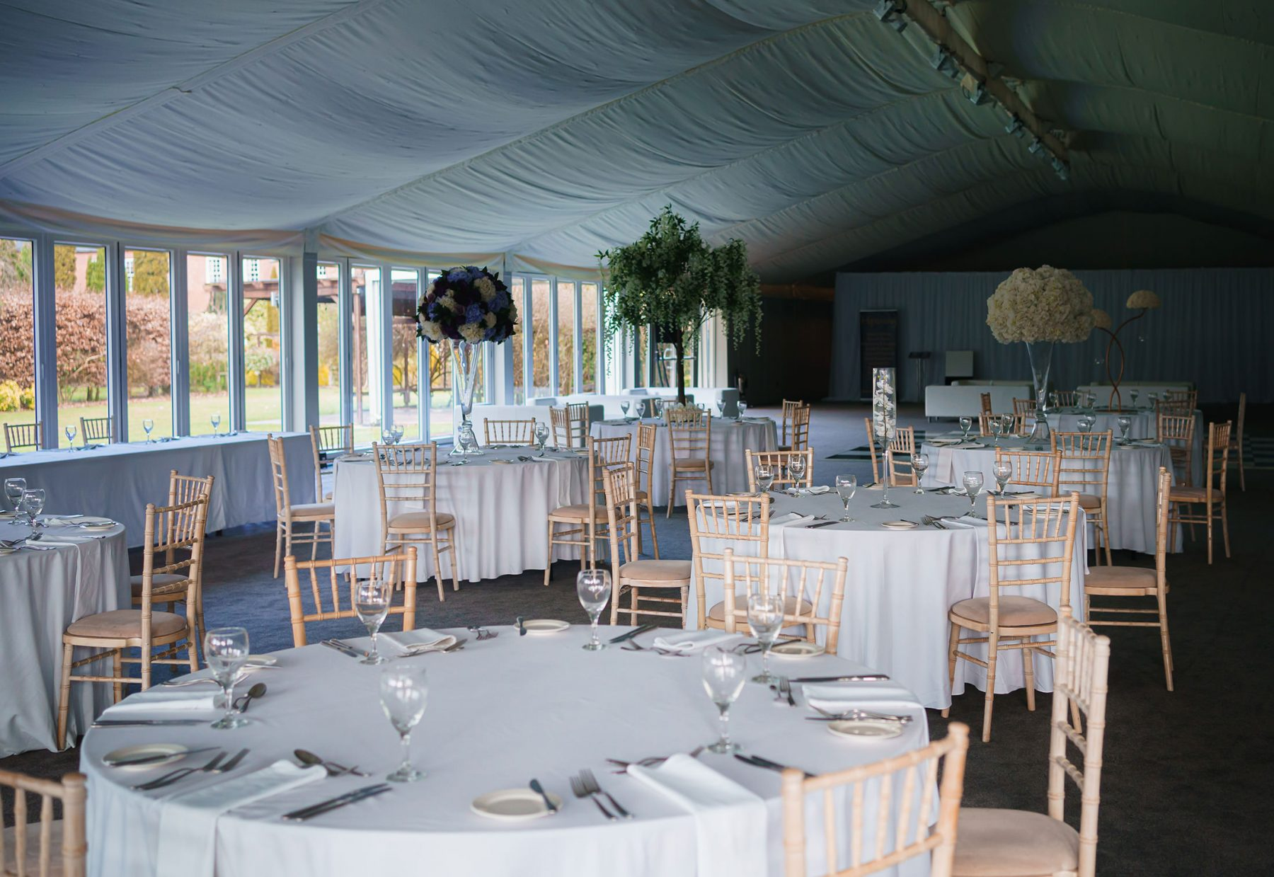 A picture of the marquee at Nunsmere Hall in Cheshire - Country House weddings at Nunsmere Hall