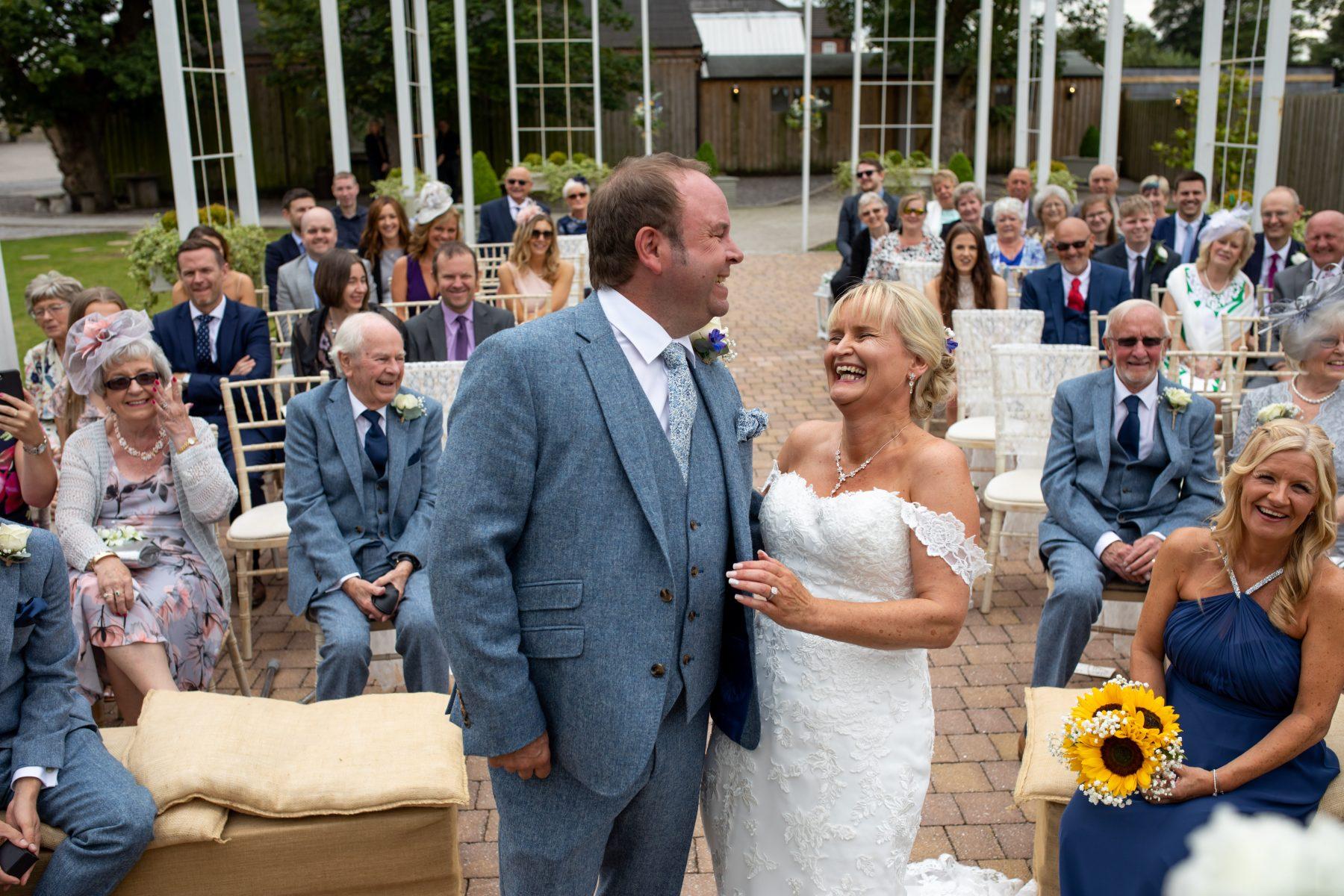 Outdoor wedding photo - Alcumlow Wedding Barn